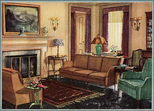 1929 Armstrong Linoleum Ad 1920s Home Decor 1920s Interior Design 1920s Interior