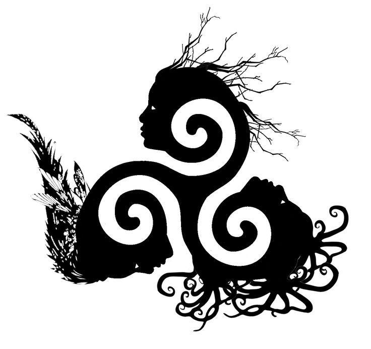Triple Goddess Symbol Tattoo Inked