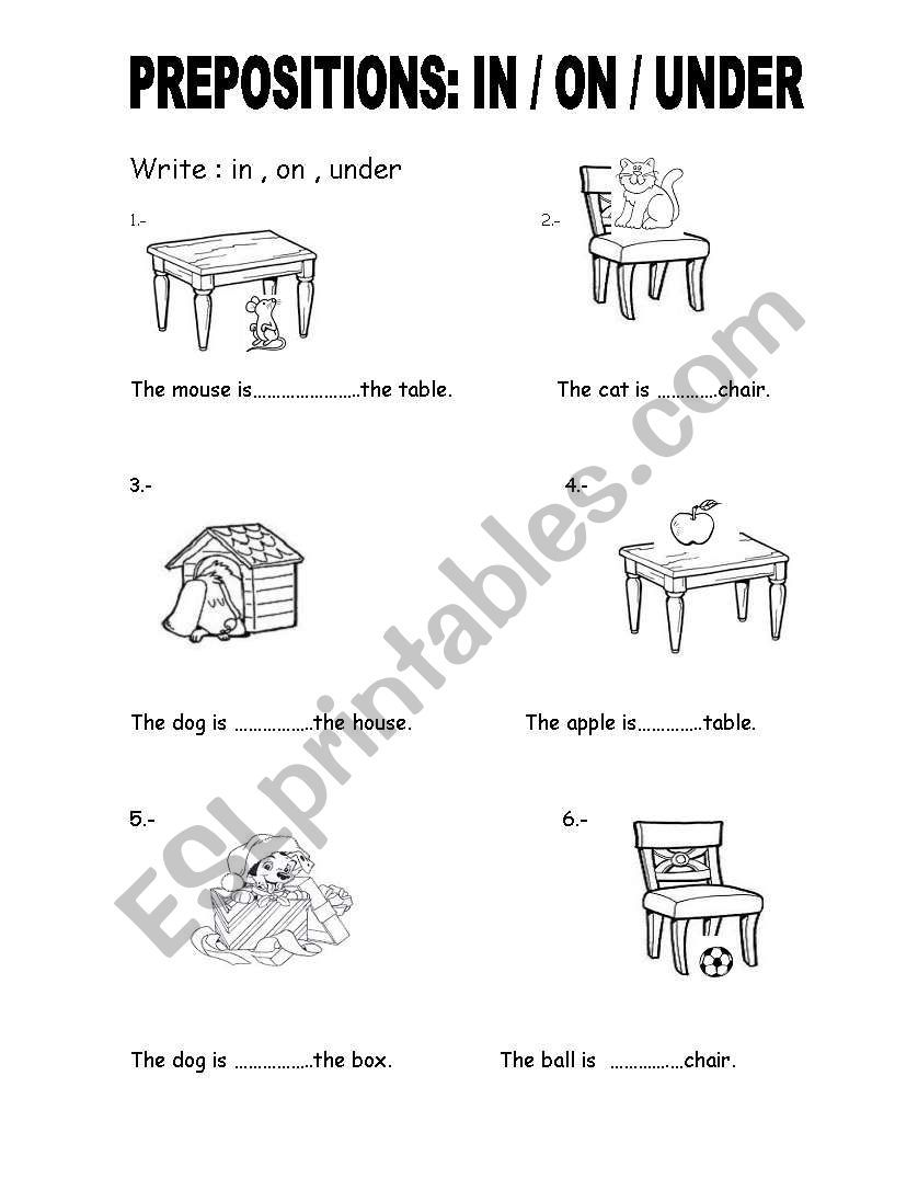 Prepositions In On Under Worksheet Preposition Worksheets Preposition Worksheets Kindergarten Prepositions [ 1086 x 838 Pixel ]