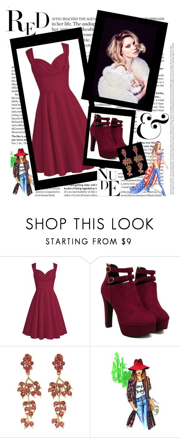 """Template Style 1"" by julyralewis ❤ liked on Polyvore featuring Oscar de la Renta, WALL and Victoria's Secret"