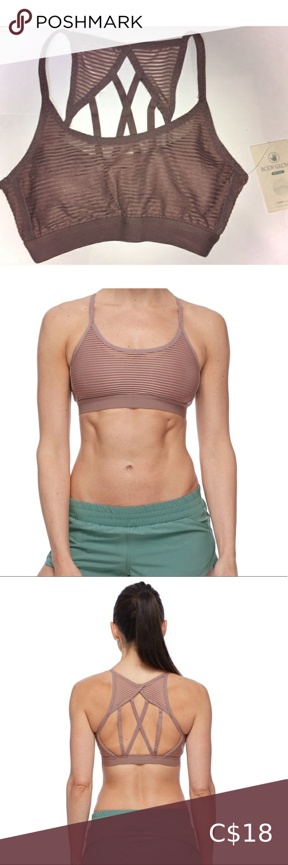 Body Glove Womens Sunna Light Support Activewear Sport Bra