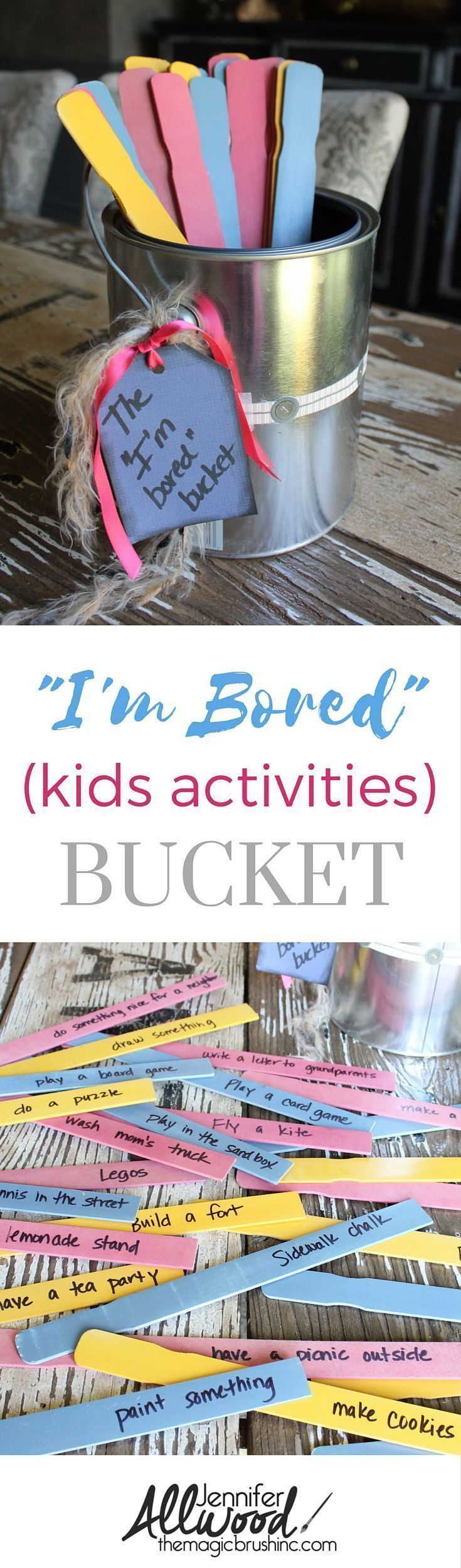 DIY Bored Bucket with tons of kids activities to fight boredrom
