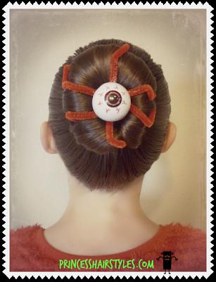 Eyeball bun tutorial for Halloween or Crazy Hair Day