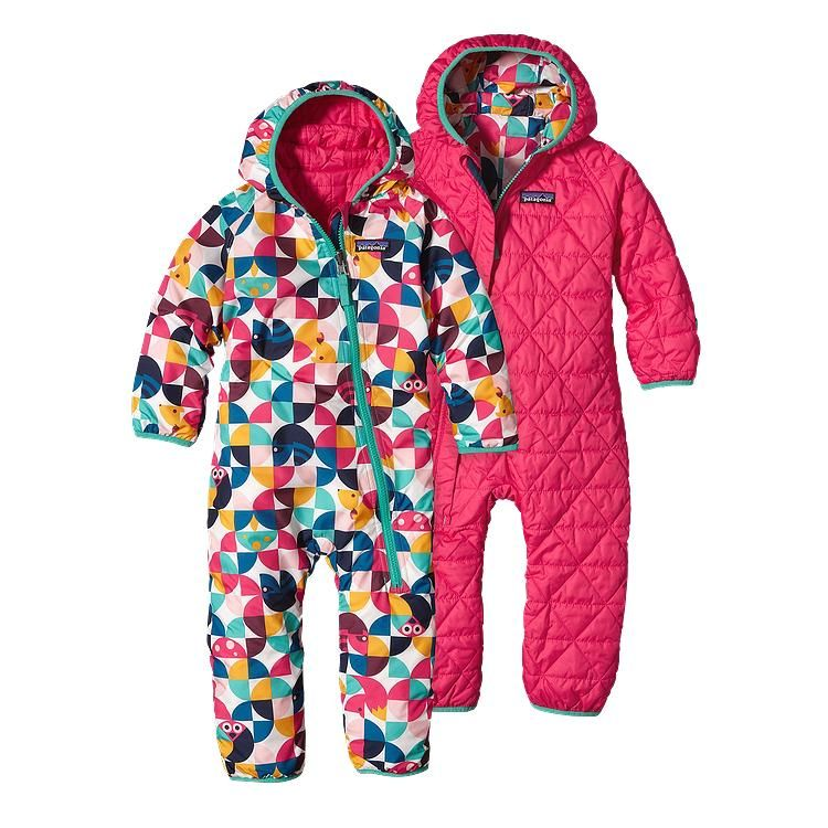 Infant Reversible Puff Ball Bunting Baby Boy Snowsuit