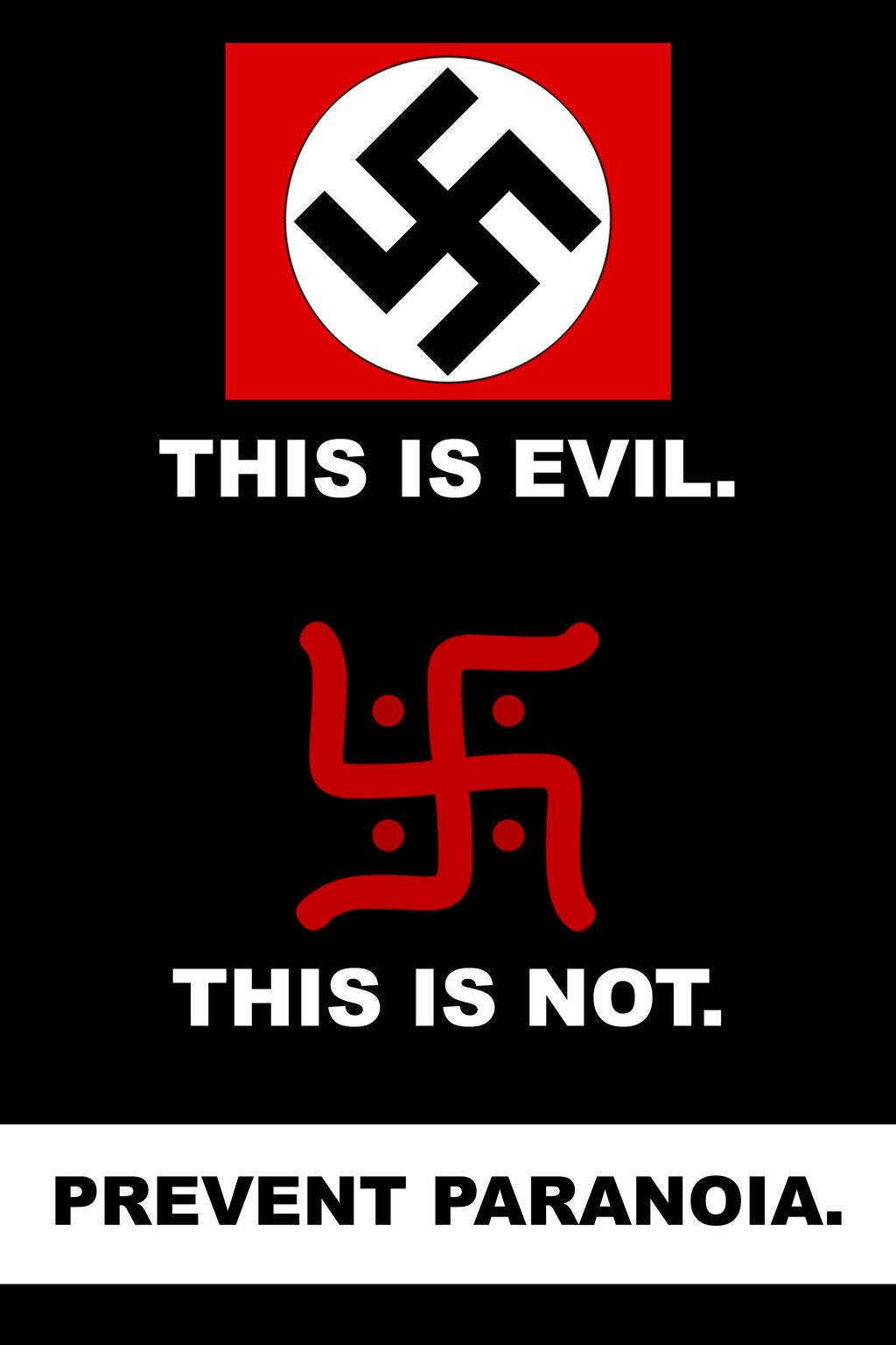 The swastika was also a rune used by the scandinavian people and the hindu swastika cross meaning luck originated from india hitler stole it and used it differently on his end there is a huge difference biocorpaavc