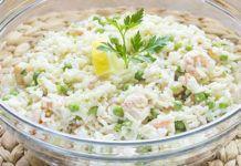 Salade de Riz au Saumon et aux Crevettes WW