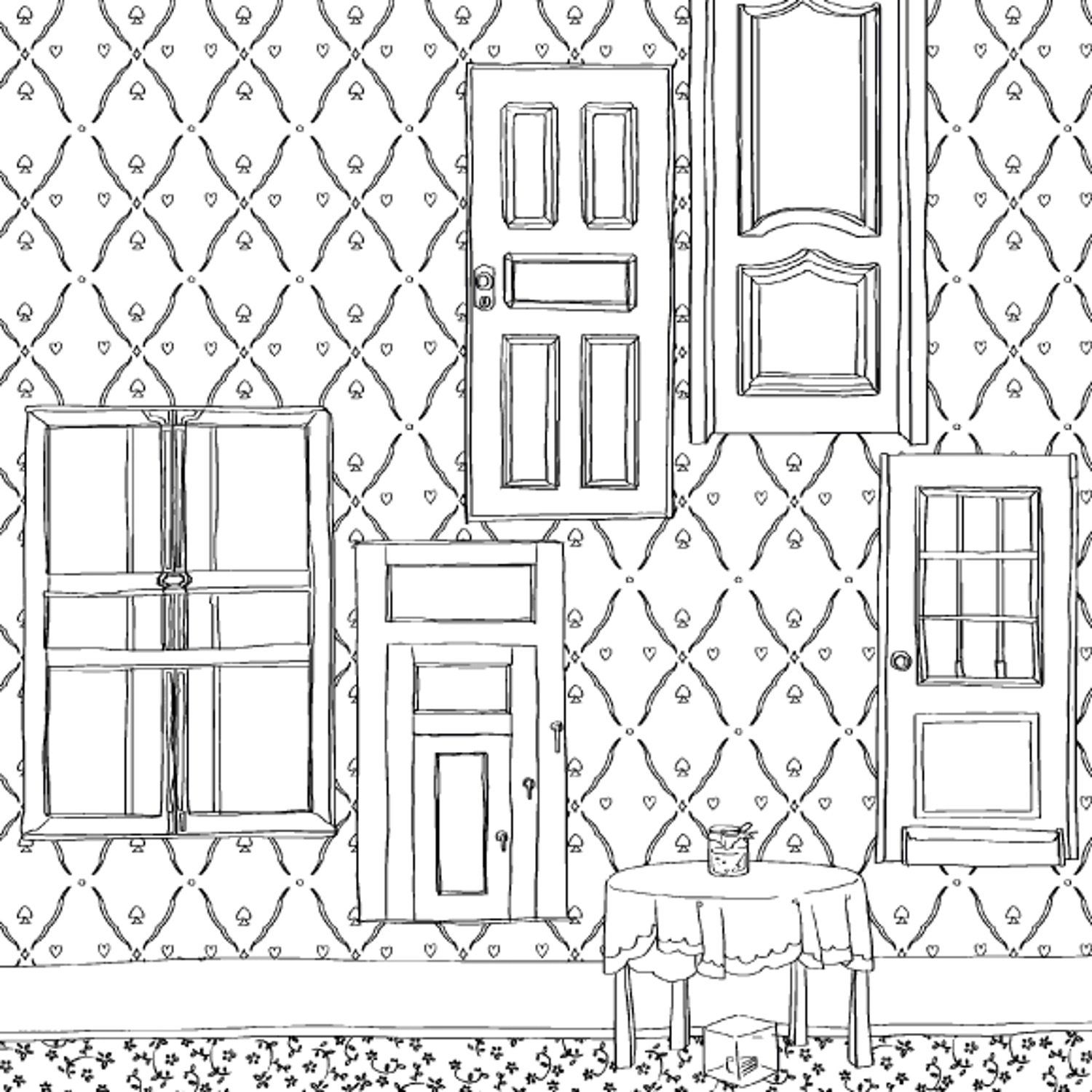 Robot Check Coloring Books Alice In Wonderland Coloring Pages