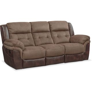 Pleasant Tacoma Manual Reclining Sofa Brown Mad For Motion Machost Co Dining Chair Design Ideas Machostcouk