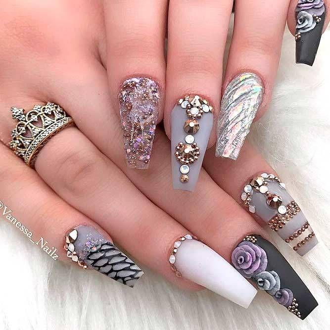 150 Trendy Acrylic Nails Designs 2018 | Acrylic nail designs ...