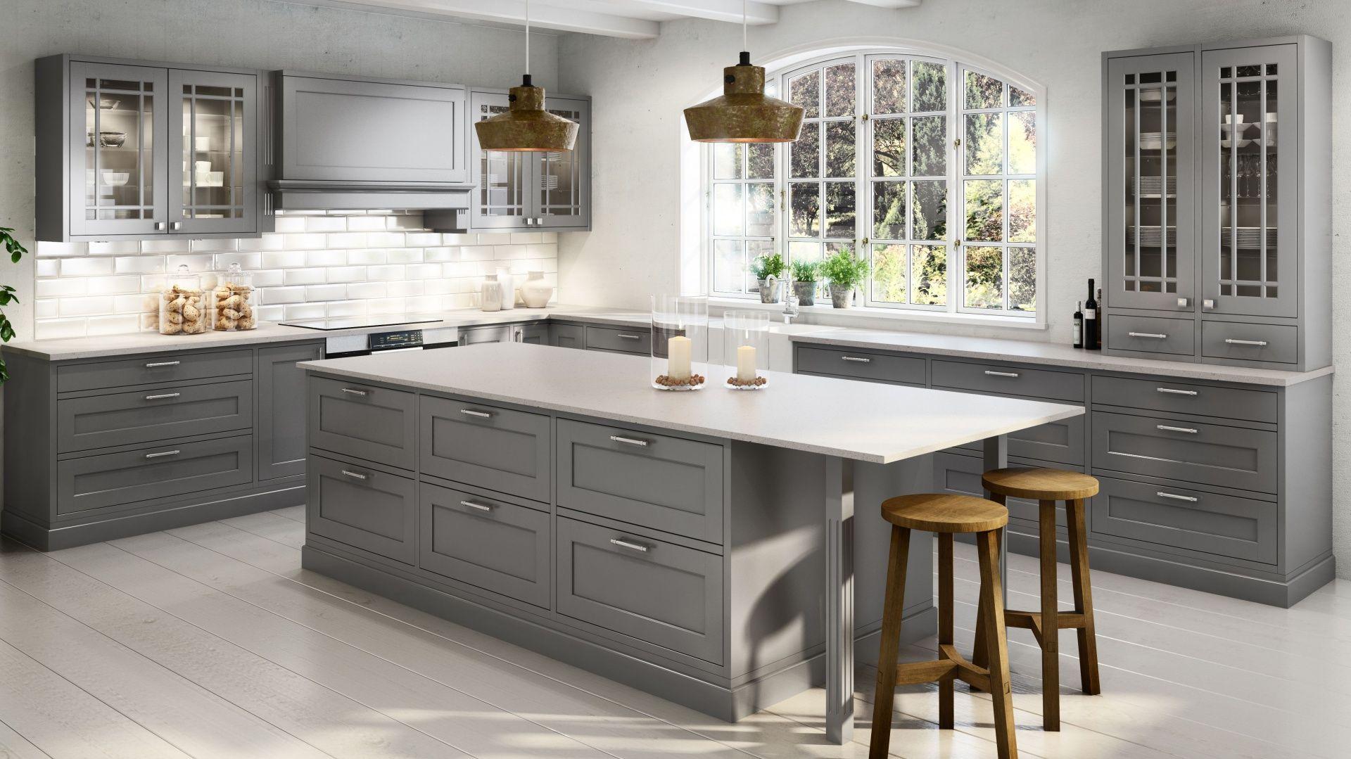 Modna Kuchnia Postaw Na Meble W Szarym Kolorze Kitchen Design Luxury Kitchen Design Islands Kitchen Decor