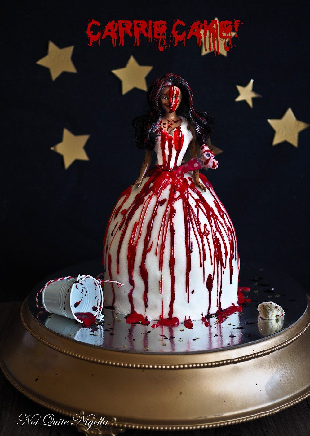 Pleasant Carrie A Halloween Dolly Varden Cake From The Dark Side Video Personalised Birthday Cards Epsylily Jamesorg