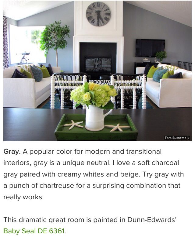 Paint color - try gray with a punch of color: chartreuse
