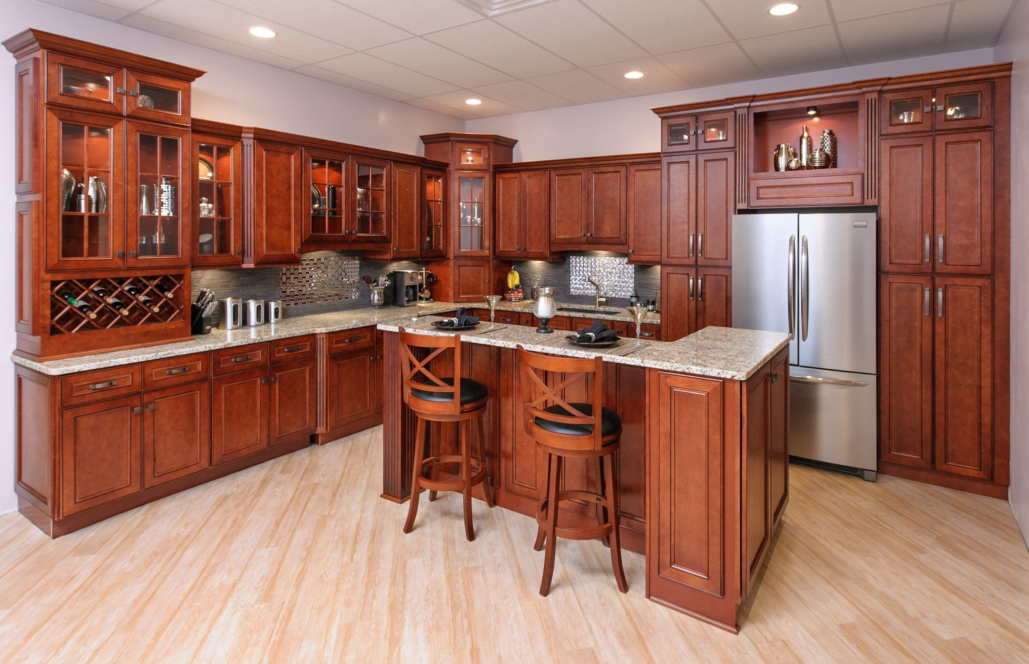 A Simple Guide To Choosing The Best Wood Cabinet Type Cherry Cabinets Kitchen Traditional Kitchen Cabinets Wood Kitchen Cabinets