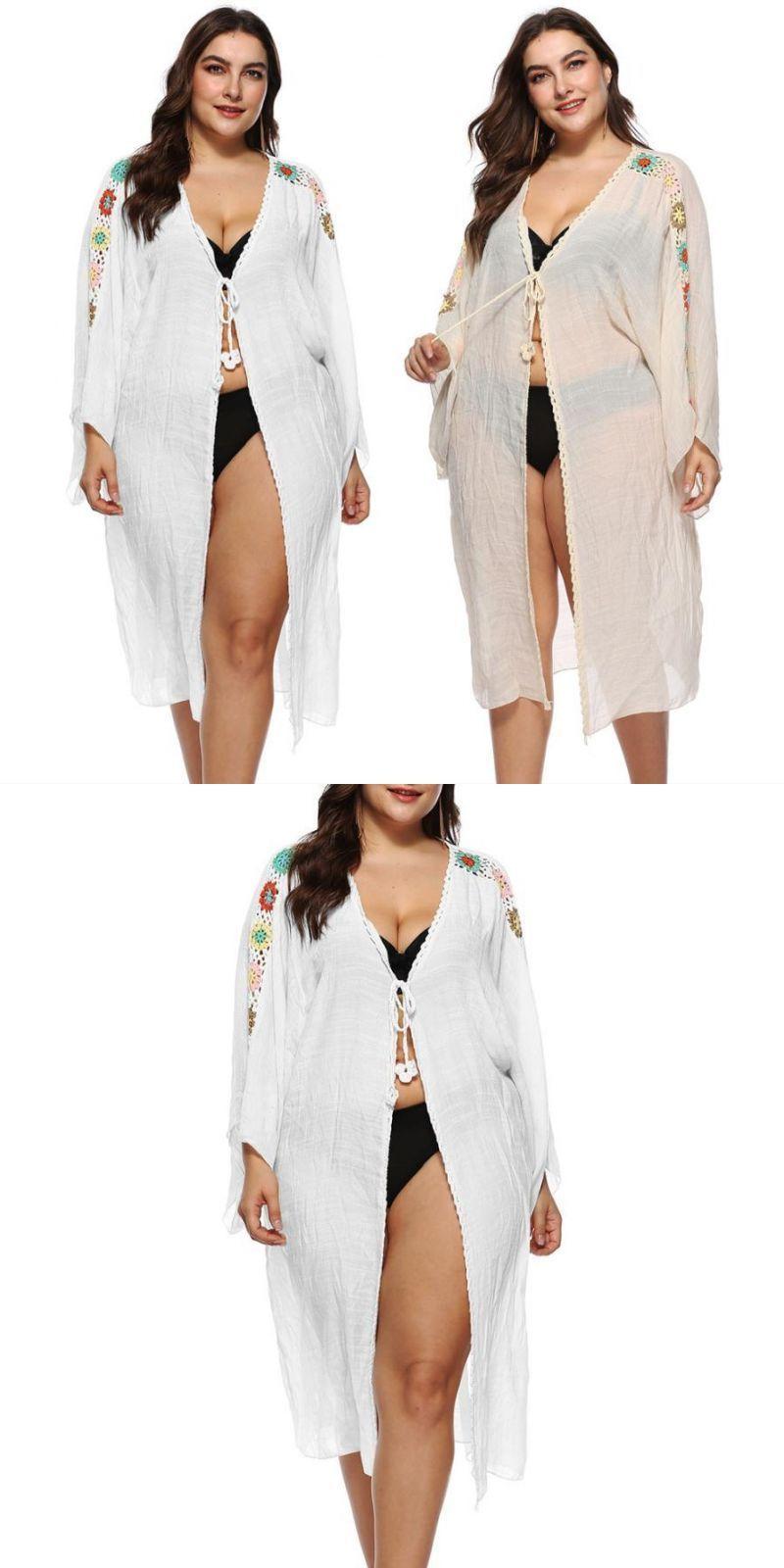 a2b034e42e 2018 new beach cover up bikini crochet knitted tassel tie beachwear summer swimsuit  cover up sexy