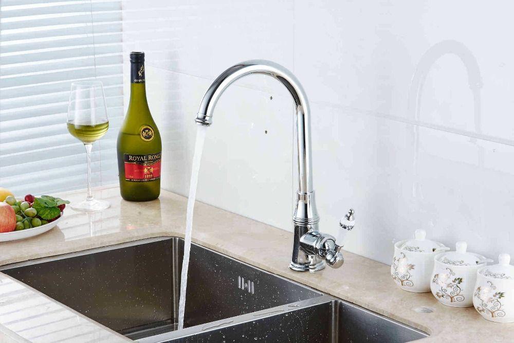 Grey Quartz Kitchen Faucets 360 Swivel Mixer Tap Faucet kitchen ...