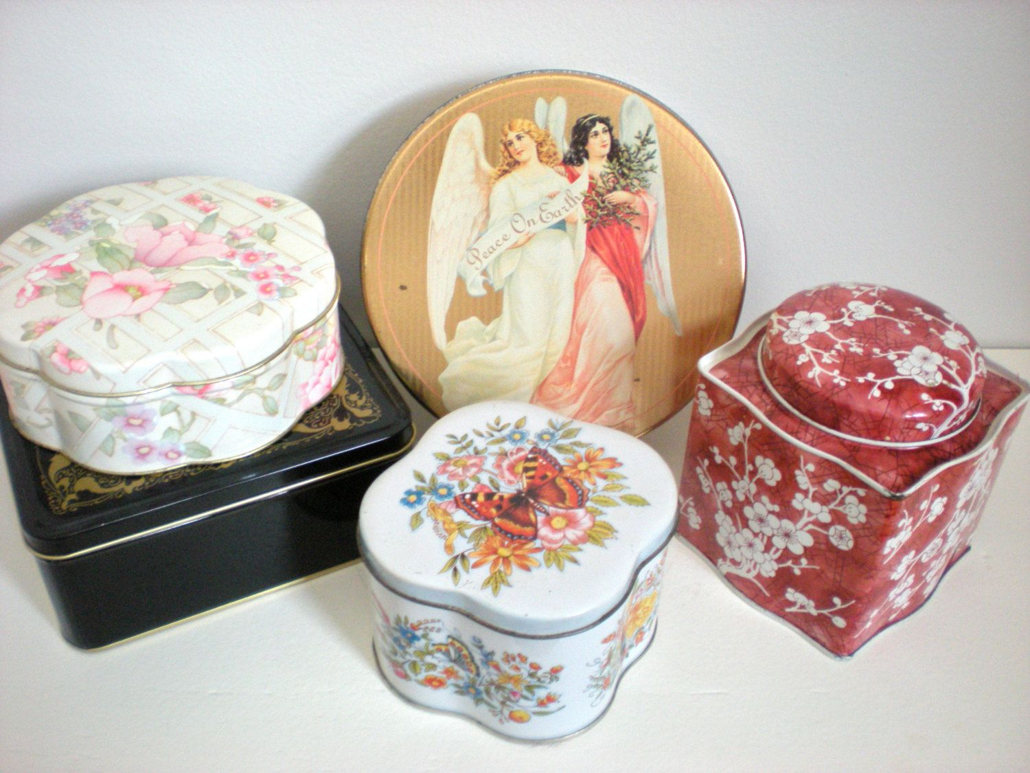 Decorative Cookie Containers Christmas Tins Cookie Tins Candy Tin Packages For A Gift
