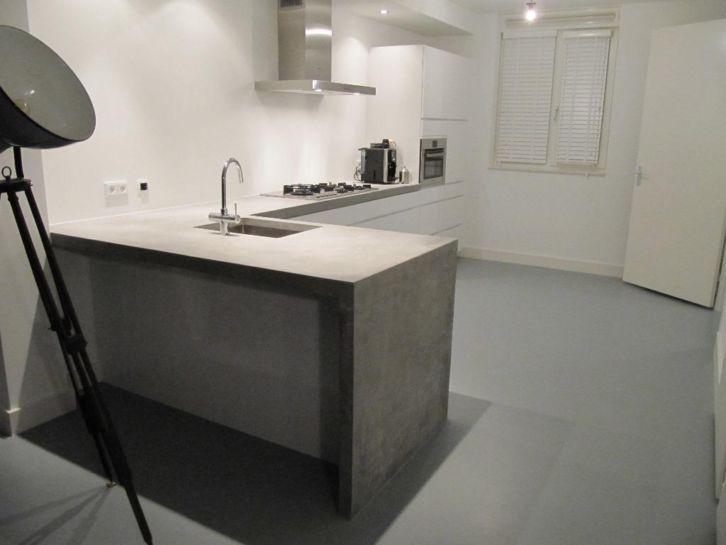 Keuken Van Beton : Witte keuken beton blad beste ideen over huis en interieur