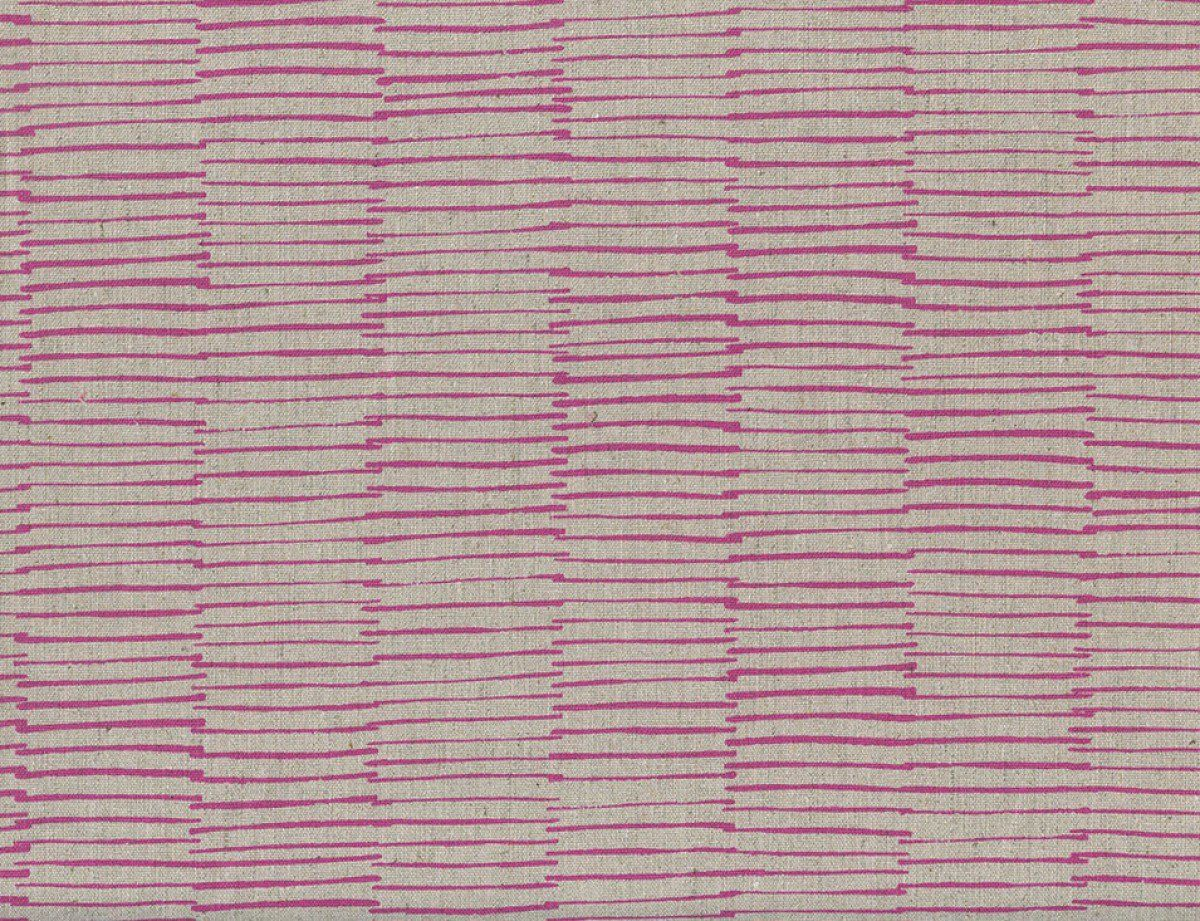 Merveilleux Maker Maker Lines Pink Linen/Cotton Canvas Home Decor Canvas Fabric