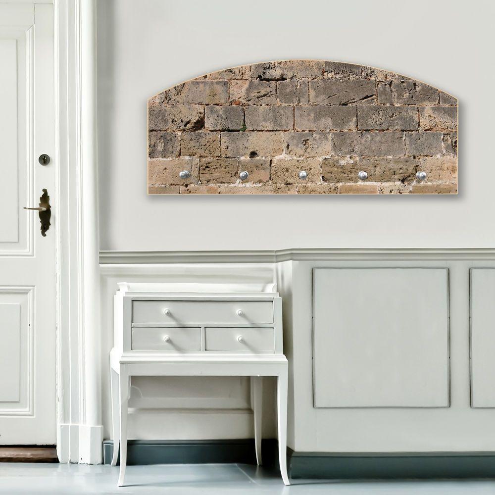 Design Wandgarderobe Flurgarderobe Holz Garderobe Motiv