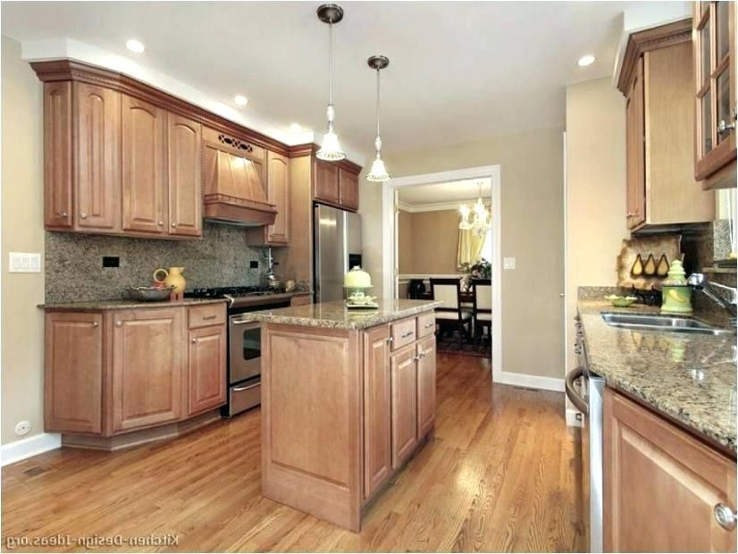Poplar Stained Cabinets Red Kitchen Walls Oak Kitchen Cabinets