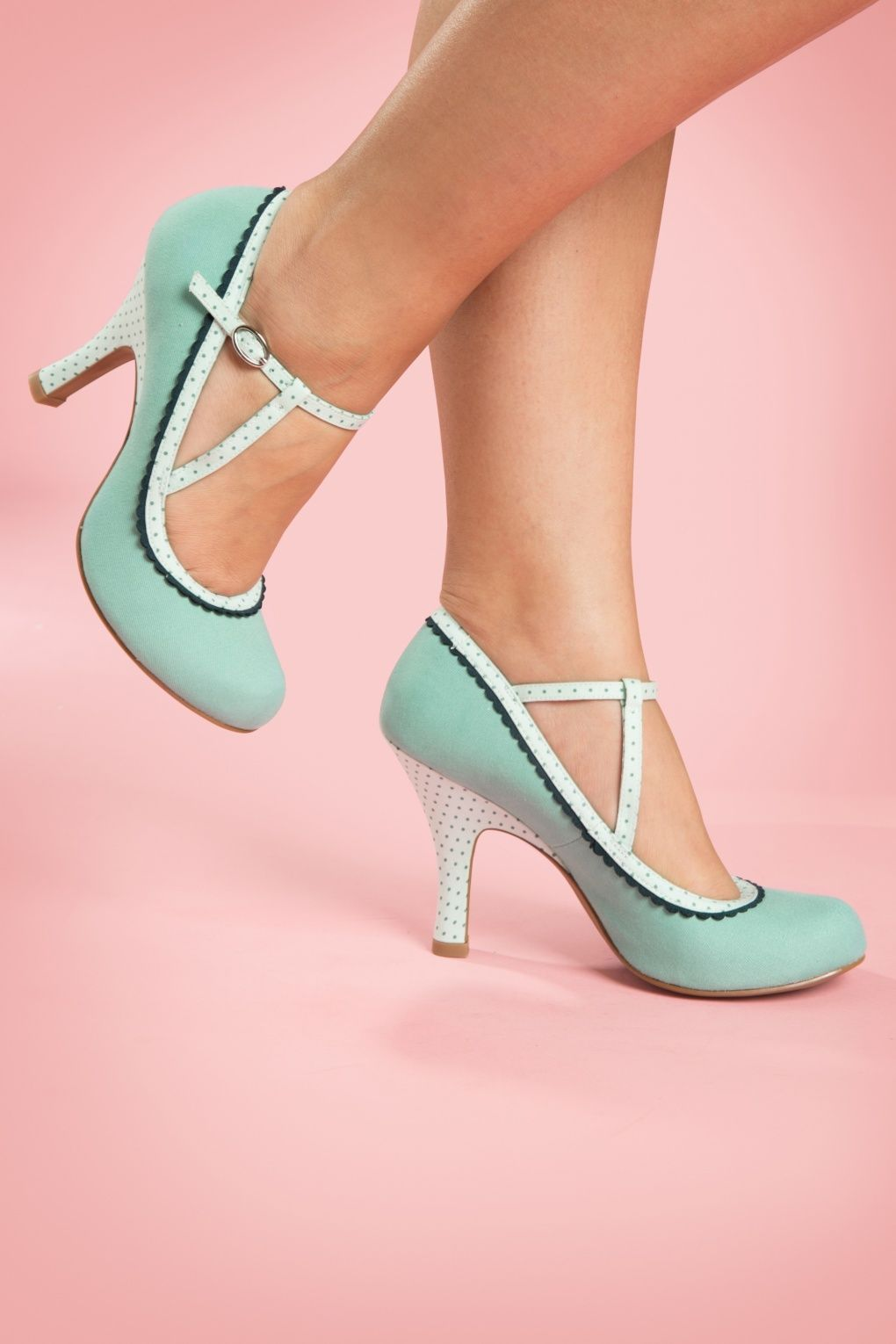 dc28c5c92859d 50s Jessica Ankle Strap Pumps in Mint | Shoes | Shoes, Pretty shoes ...