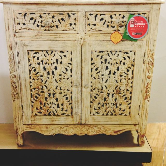 Ordinaire Carved Cabinet From India