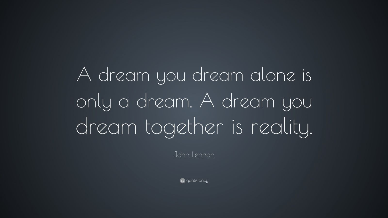 John Lennon Quote A Dream You Dream Alone Is Only A Dream A Dream