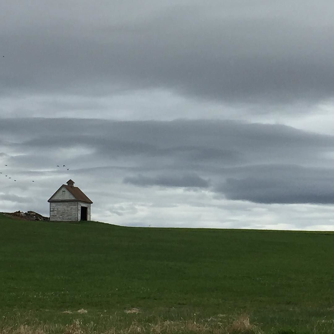 I love this place! #Berkshires #grey #clouds #tinyhouse #fields #country #weddingplanner #onthemove #intheberkshires