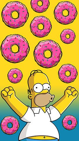 Homer Simpson Donuts Simpson wallpaper iphone, Homer