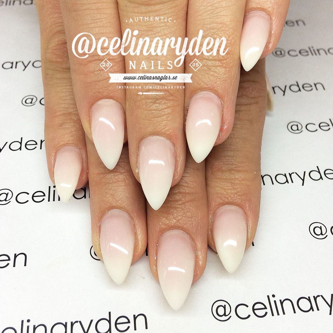 French Ombre French Fade Babyboomers Nails Faded Nails