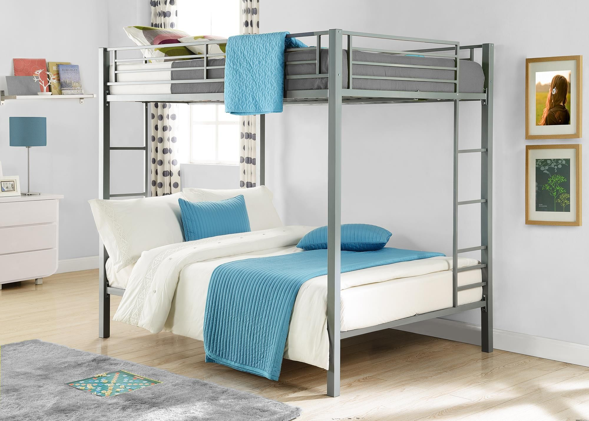 Complete Your Kid S Room With Dhp S Full Over Full Metal Bunk Bed