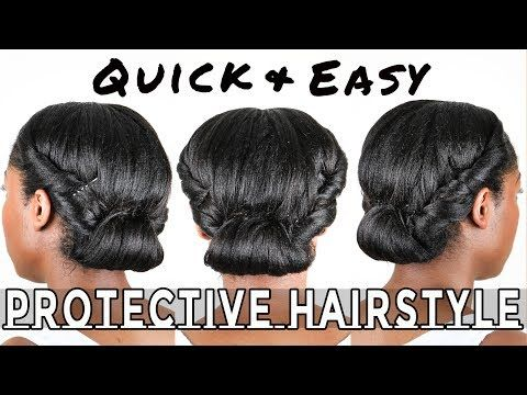 Quick And Easy Protective Hairstyle Hair Styles Relaxed Hair Care Short Relaxed Hairstyles