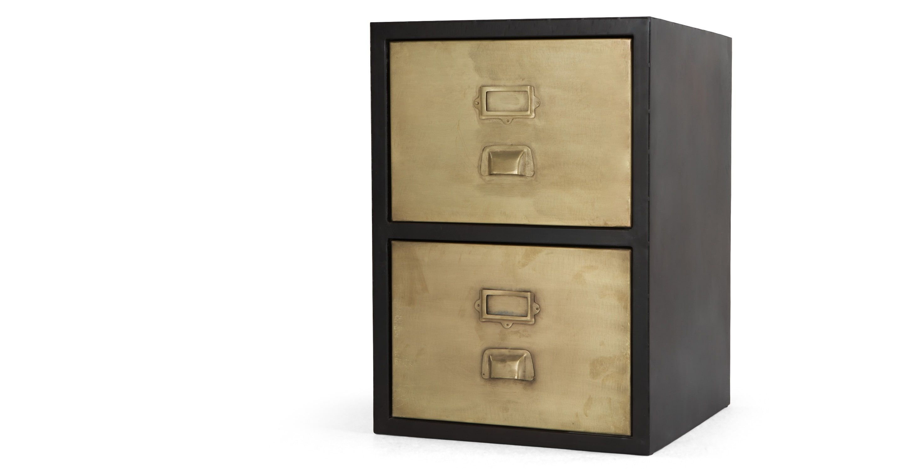 Stow Filing Cabinet 2 drawers Vintage Brass Misc