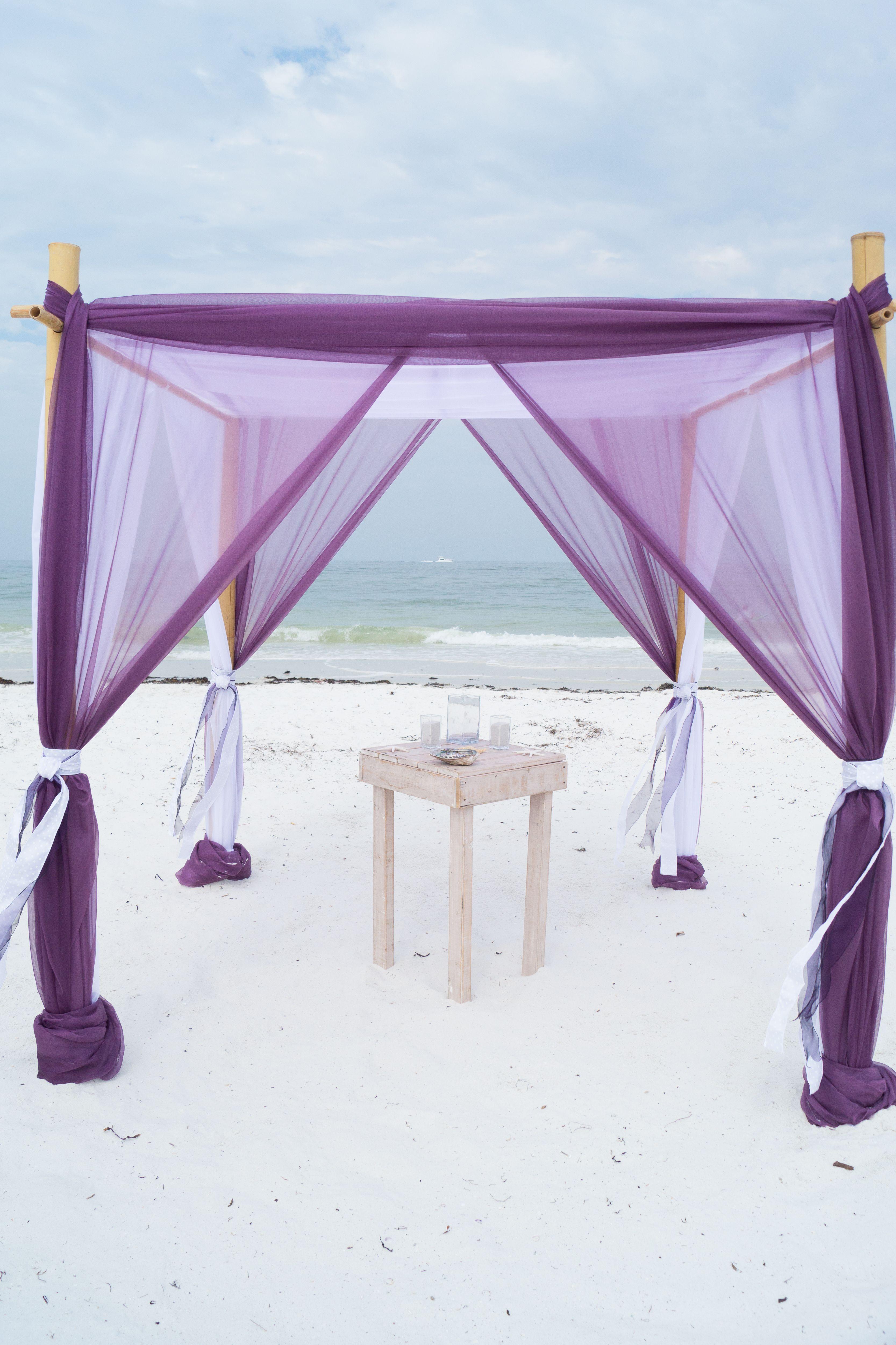 Eggplant and white beach arbor. | Purple Wedding Theme | Pinterest ...