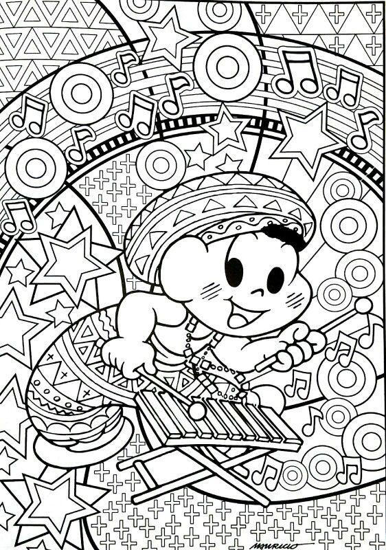 Turma Da Monica Desenhos Para Colorir Adultos Desenhos Pra