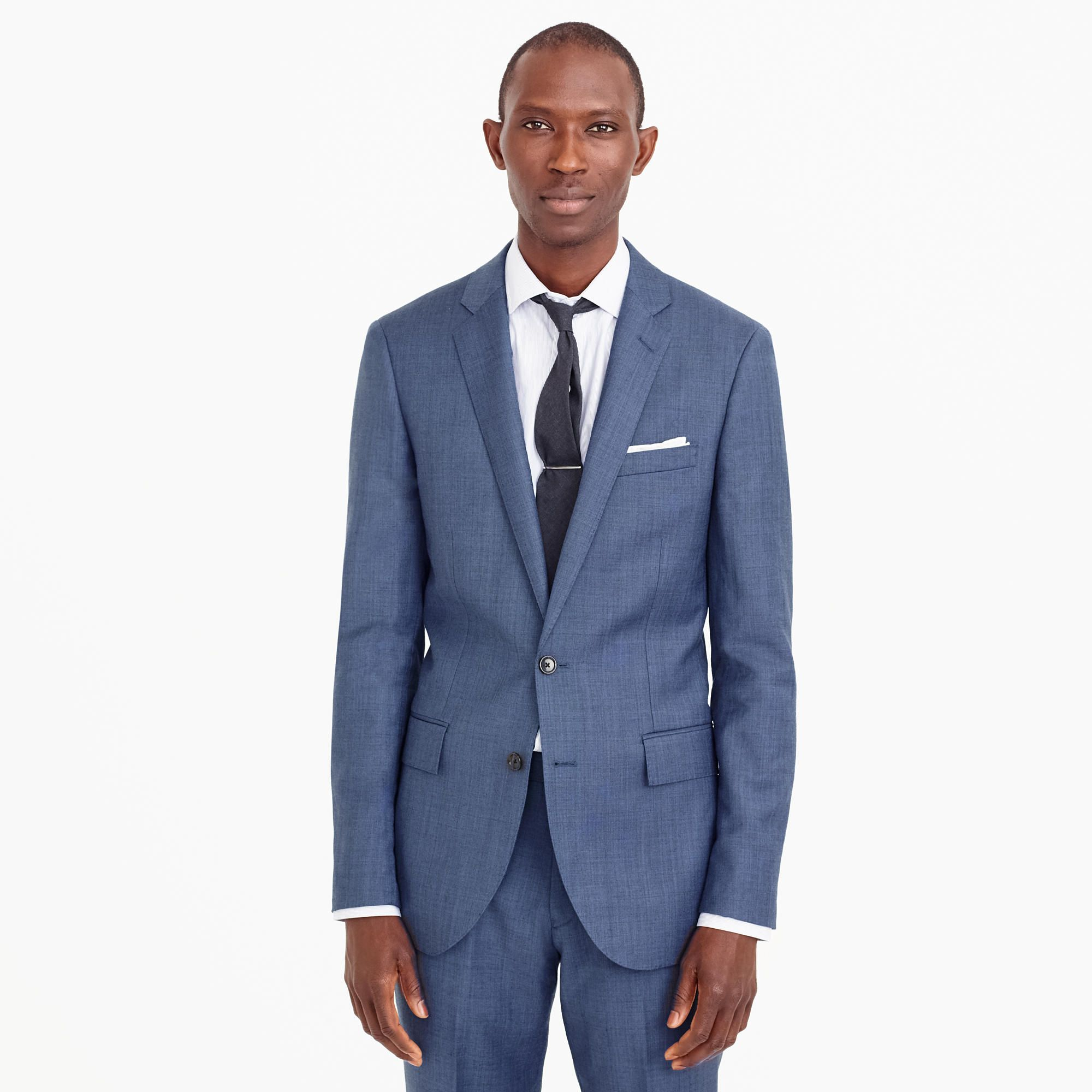 f7349593dba91a Ludlow Slim-fit suit jacket with double vent in Italian worsted wool ...