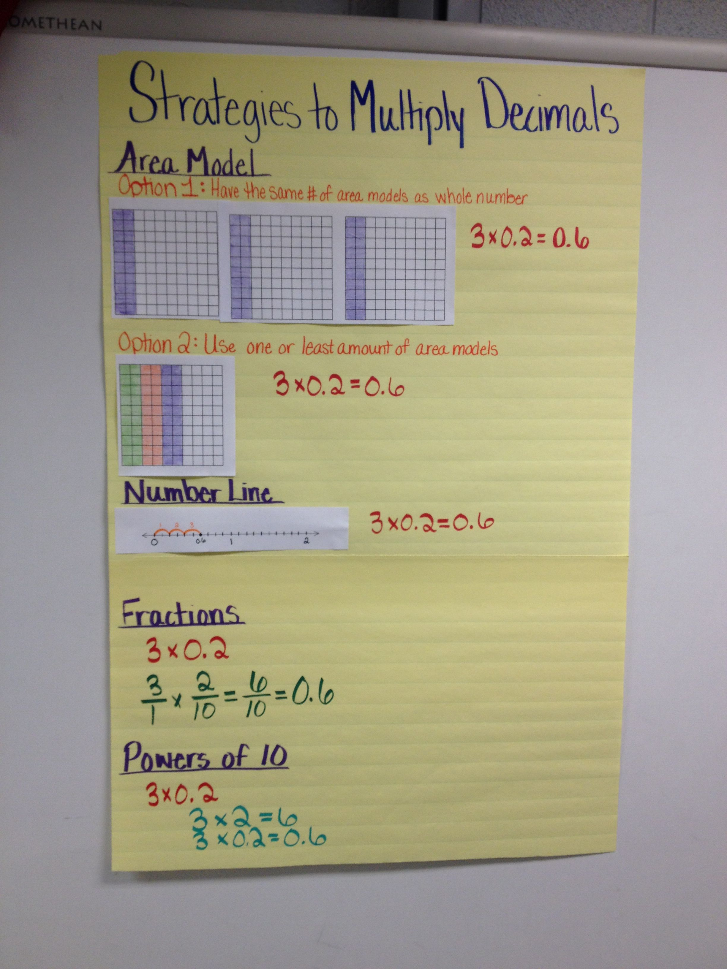 Multiplying Decimals 5 Nbt 7