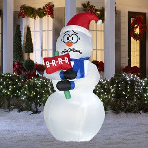 Inflatable Christmas decorations snowman