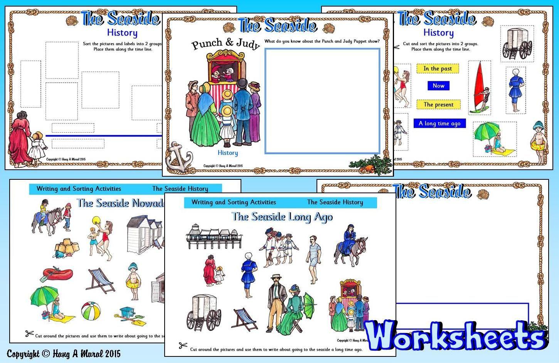 Seaside Worksheets Free Sample Download At Hang A Mural Seaside Long Ago Sorting