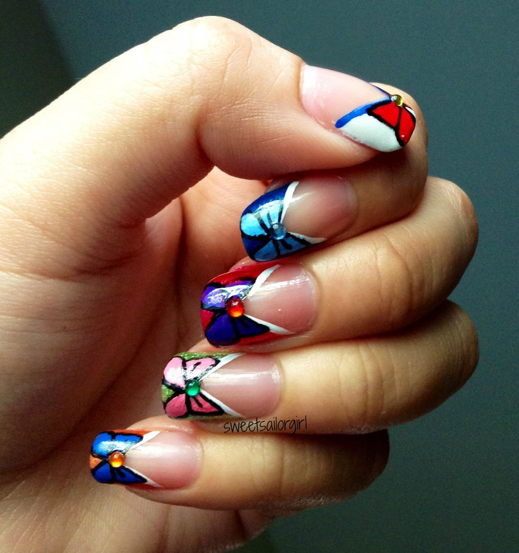 sailor moon nail art - Google Search   Sailor moon nails ...