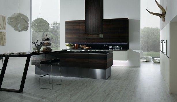 Moderne Keuken Donker : Moderne keuken met donker grijs graniet tellers u stockfoto