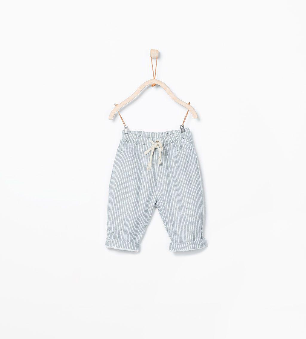 ad1f7911 Afbeelding 1 van Gestreepte broek met koordriem van Zara | Little ...
