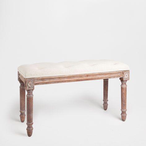 Banco tapizado muebles auxiliares zara home espa a for Zara home muebles