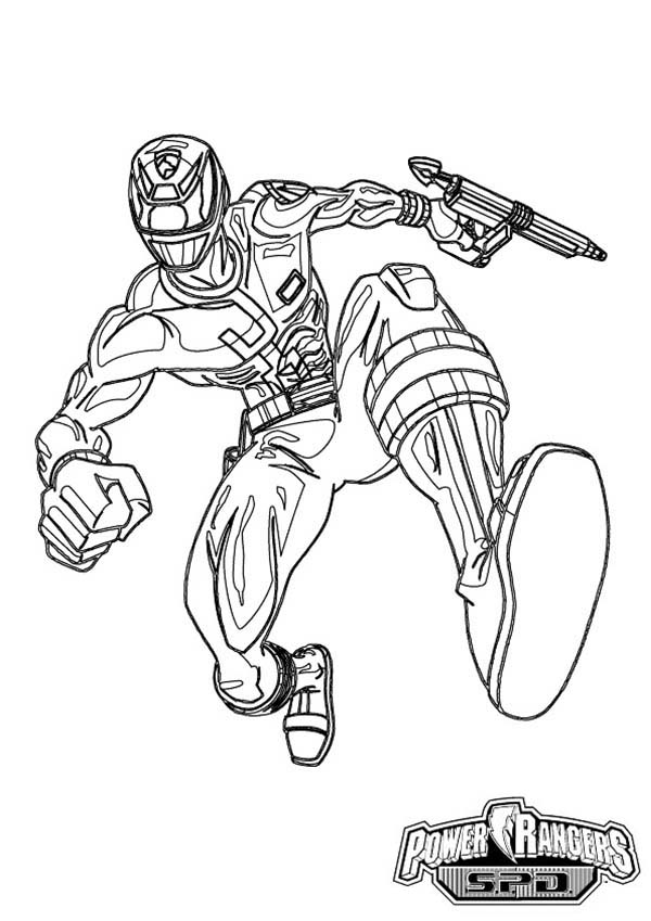 Power Rangers Spd Coloring Pages Concept