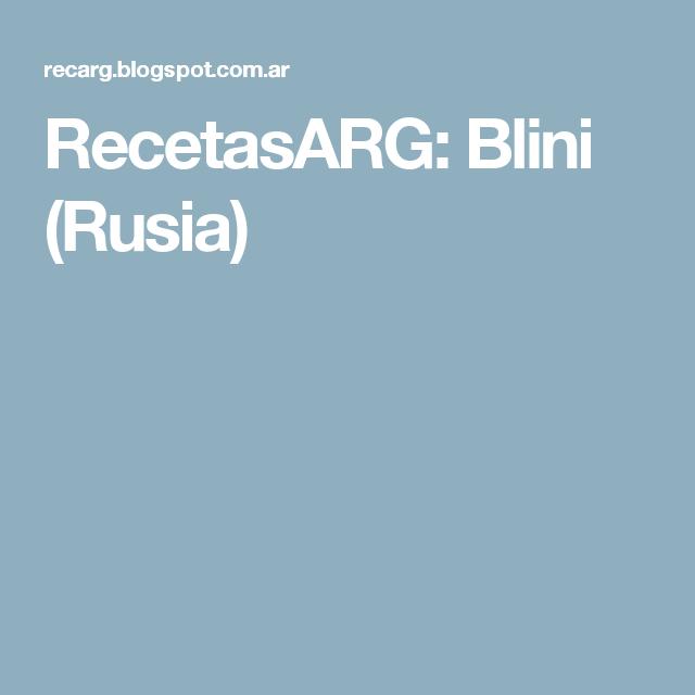 RecetasARG: Blini (Rusia)