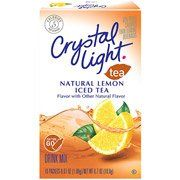 Crystal Light On The Go Lemon Iced Tea Drink Mix One Box With 10 Packets New 43000945117 Ebay In 2020 Iced Tea Drinks Mixed Drinks Crystal Light Drinks