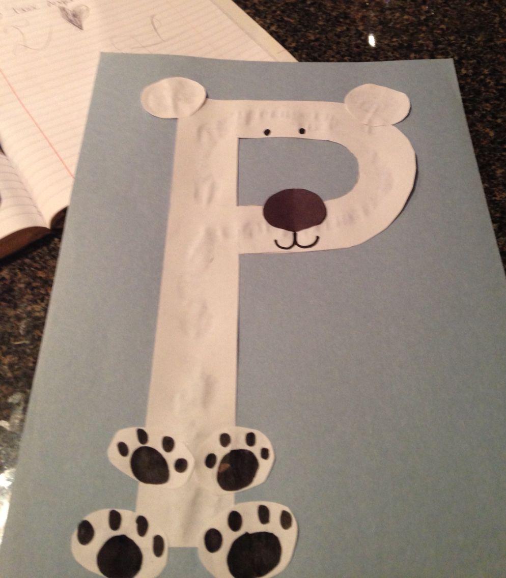 Letter p polar bear preschool pinterest polar bear for Letter p preschool crafts