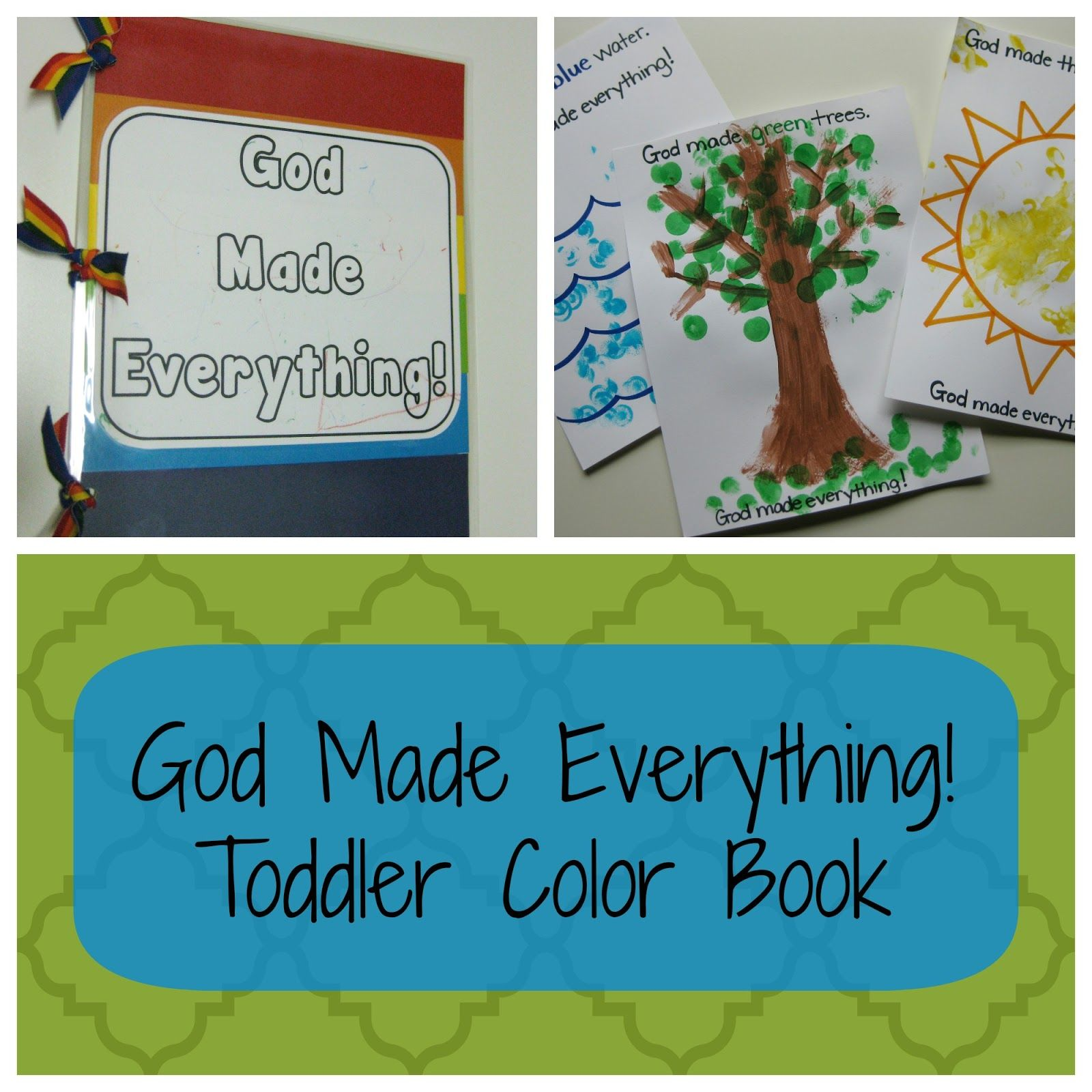 Teacher Turned Momma: God Made Everything! Color Book | Home School ...