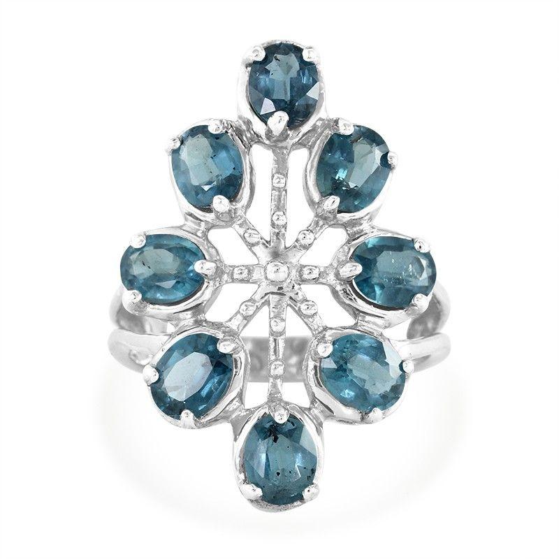 afae5a04de0758 Bague en argent et Kyanite Paon - un bijou à la conception exceptionnelle,  disponible en exclusivité chez Juwelo. Avec certificat d authenticité.