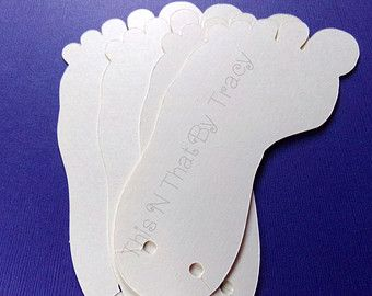 12a6cb2482ad Custom Barefoot Sandal Cards. Foot Shaped Card